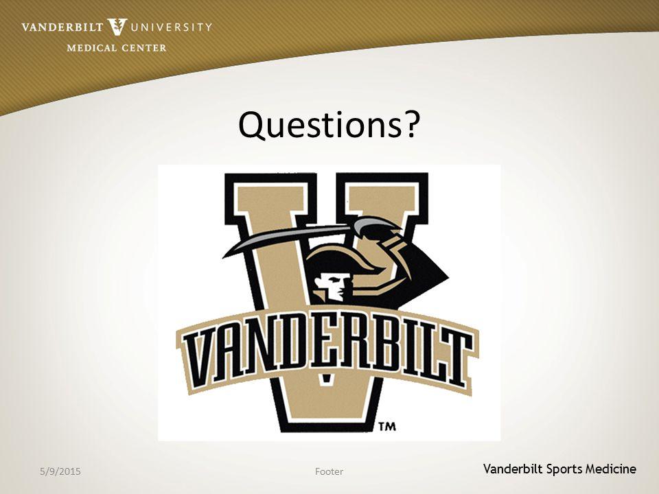Vanderbilt Sports Medicine Questions 5/9/2015Footer
