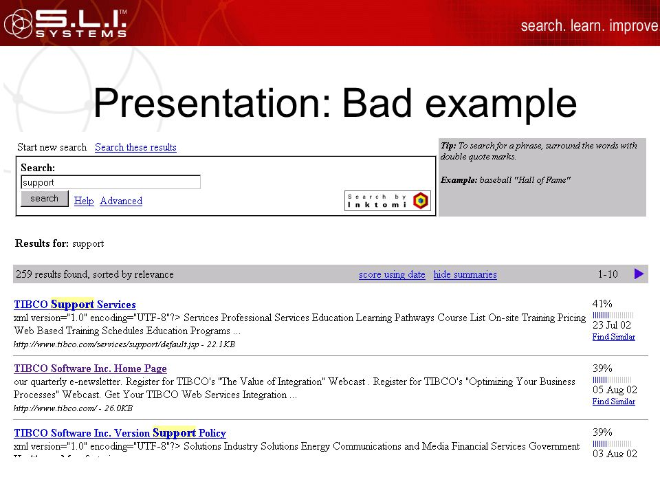 Presentation: Bad example
