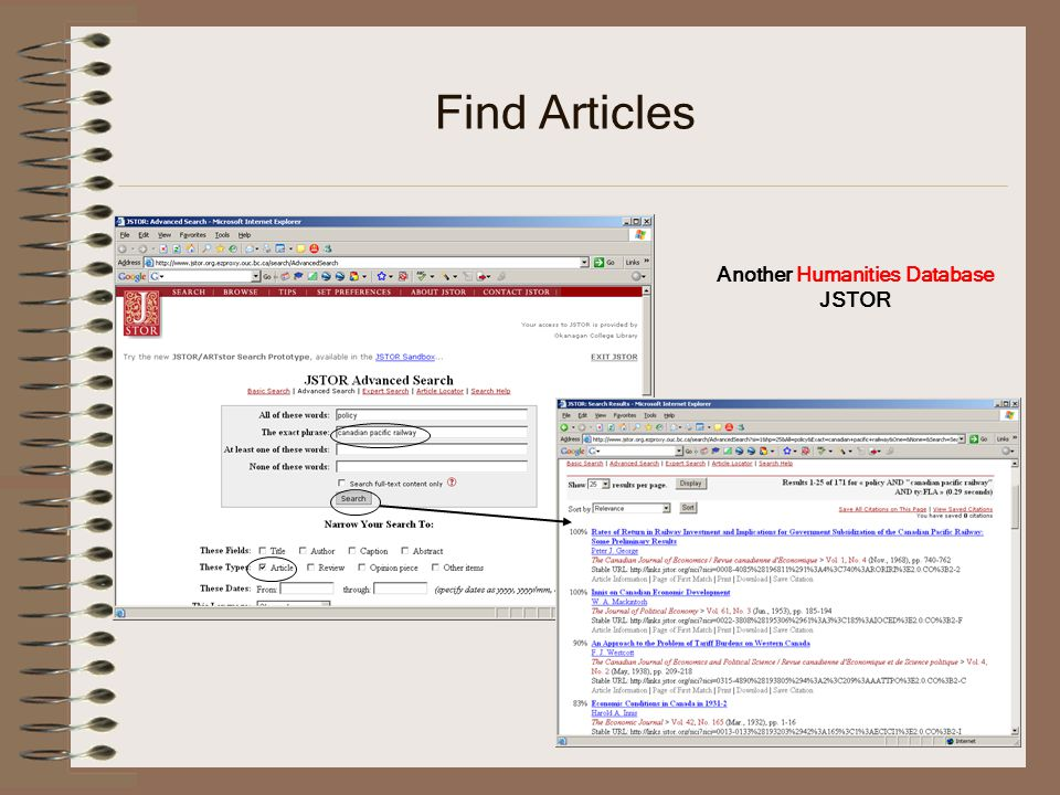 Find Articles Another Humanities Database JSTOR