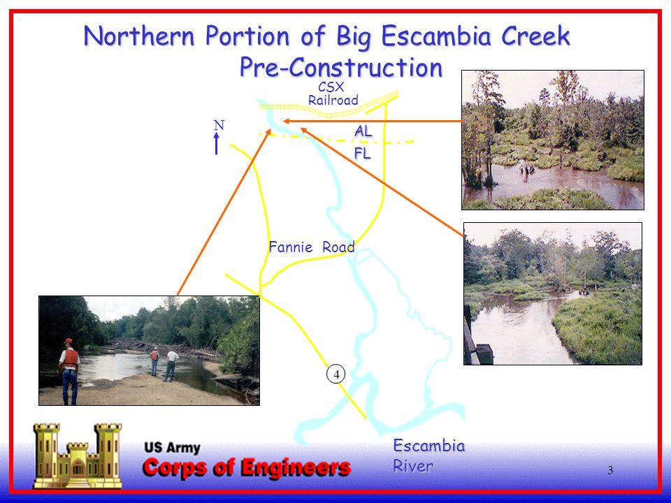 3 EscambiaRiver 4 AL FL CSX Railroad Northern Portion of Big Escambia Creek Northern Portion of Big Escambia CreekPre-Construction N Fannie Road