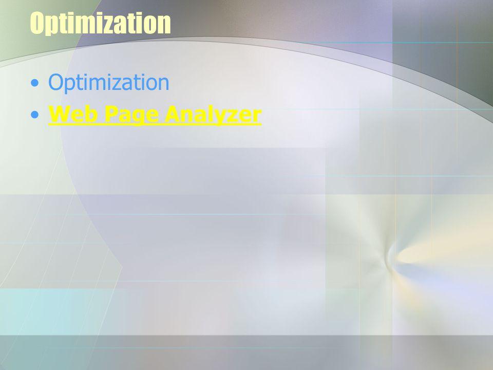 Optimization Web Page Analyzer