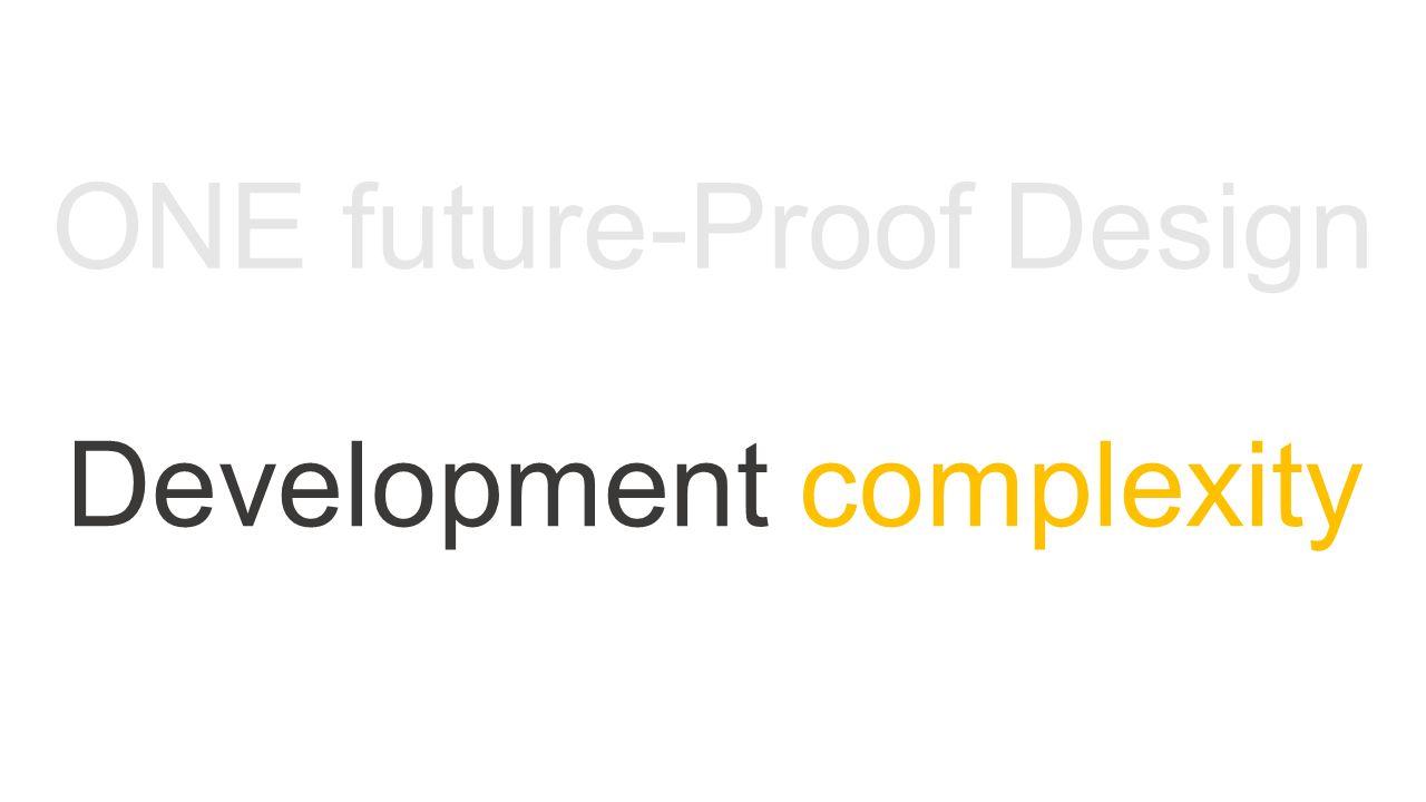 Development complexity