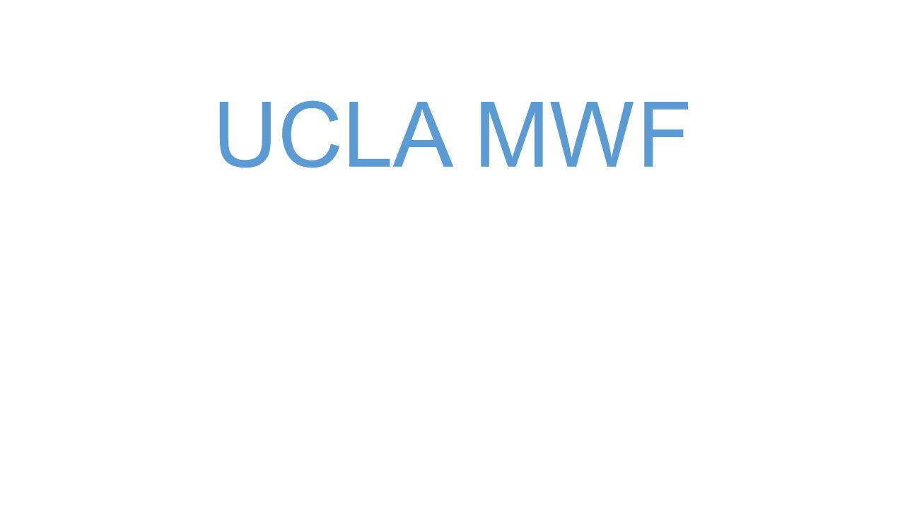 UCLA MWF