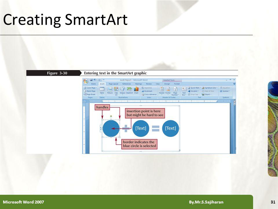 XP Creating SmartArt Microsoft Word 2007 By.Mr.S.Sajiharan31