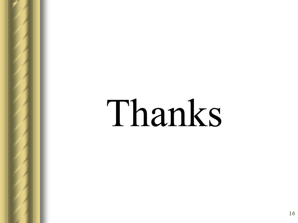 16 Thanks