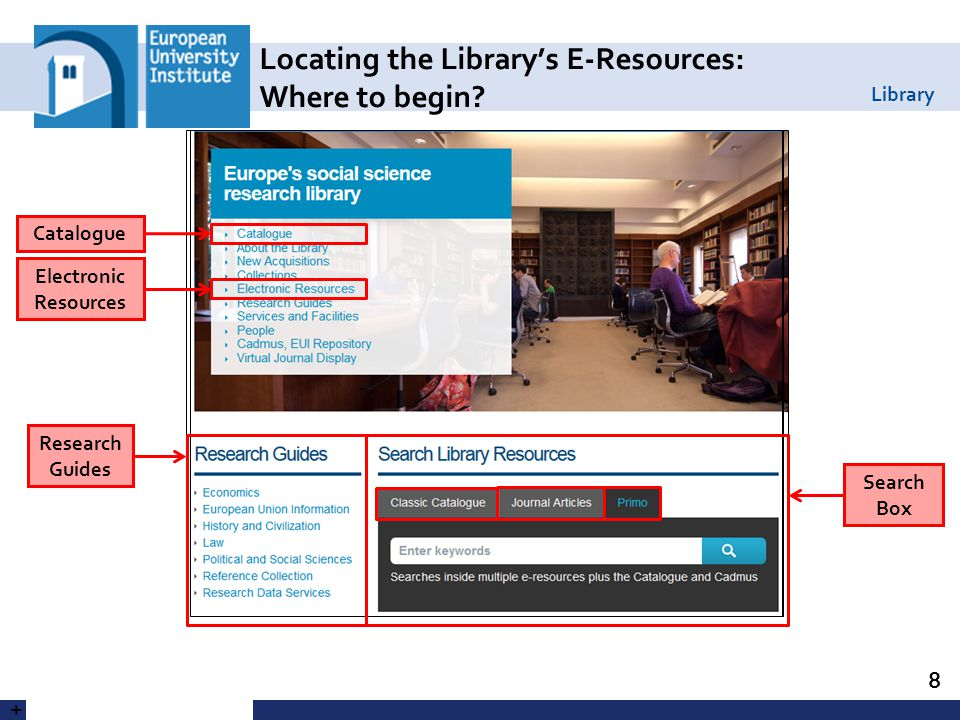 Library Using the Databases Lists 19