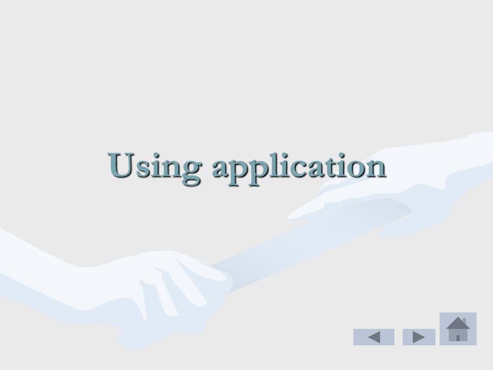 Using application