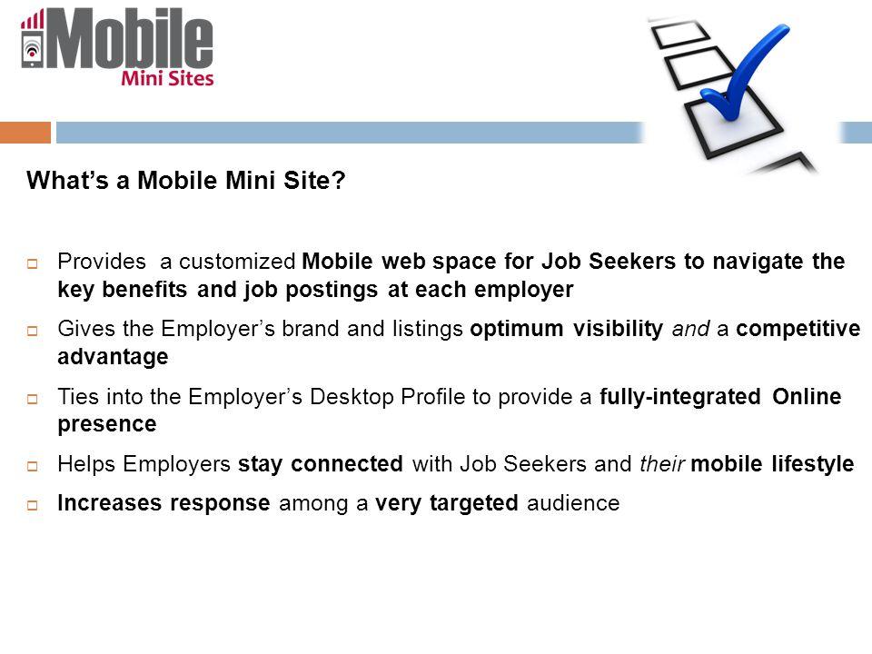 What's a Mobile Mini Site.