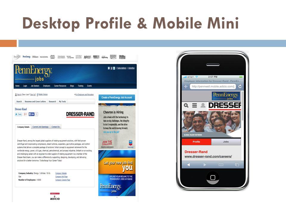 Desktop Profile & Mobile Mini