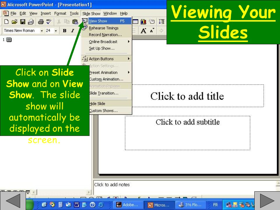 End of Quick-Clics Basic Powerpoint Click To Restart