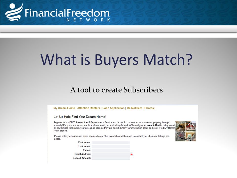What is Buyers Match? A tool to create Subscribers