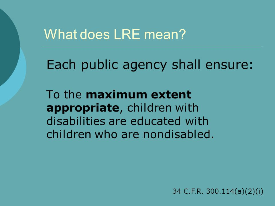 What does LRE mean.