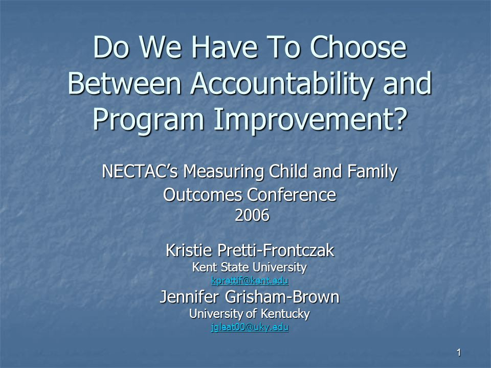 2 Overview of Session Discuss the need for measuring child outcomes as it relates to programming and accountability purposes Discuss the need for measuring child outcomes as it relates to programming and accountability purposes Discuss three issues and associated recommendations and related research Discuss three issues and associated recommendations and related research Discussion is encouraged throughout Discussion is encouraged throughout Time will remain at the end for questions and further discussion of what was presented.