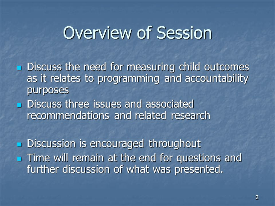 43 Example During a play-based assessment, IFSP/IEP team administered During a play-based assessment, IFSP/IEP team administered a norm-referenced test a norm-referenced test a curriculum-based assessment a curriculum-based assessment an interview with relevant caregivers an interview with relevant caregivers The team then summarized the child's performance using each method's internal summary procedures The team then summarized the child's performance using each method's internal summary procedures Calculated a standard score Calculated a standard score Derived a cutoff score Derived a cutoff score Narratively summarized interview Narratively summarized interview Lastly the team rated the child's overall performance using ECO's Child Outcome Summary Form for each of the 3 OSEP outcomes Lastly the team rated the child's overall performance using ECO's Child Outcome Summary Form for each of the 3 OSEP outcomes Two years later as the child was being transitioned out of the program, the results from a comprehensive curriculum-based assessment were reviewed Two years later as the child was being transitioned out of the program, the results from a comprehensive curriculum-based assessment were reviewed The child's performance rated using ECO's Child Outcome Summary Form The child's performance rated using ECO's Child Outcome Summary Form The team made a determination of progress The team made a determination of progress