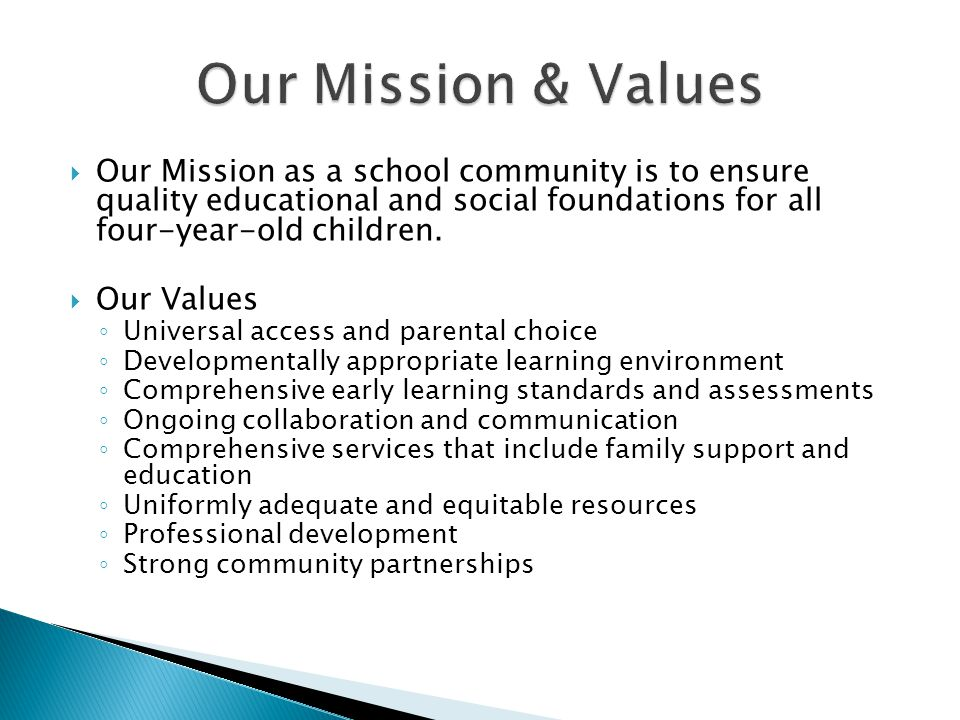  The mission of the MGSD is to increase learning for all students while cultivating social responsibility and a desire for learning.
