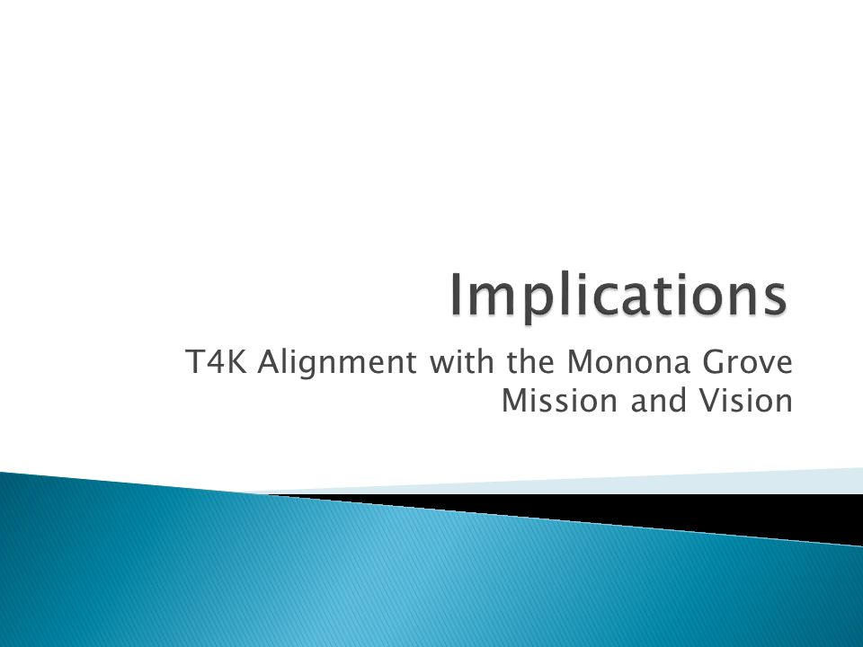 T4K Alignment with the Monona Grove Mission and Vision