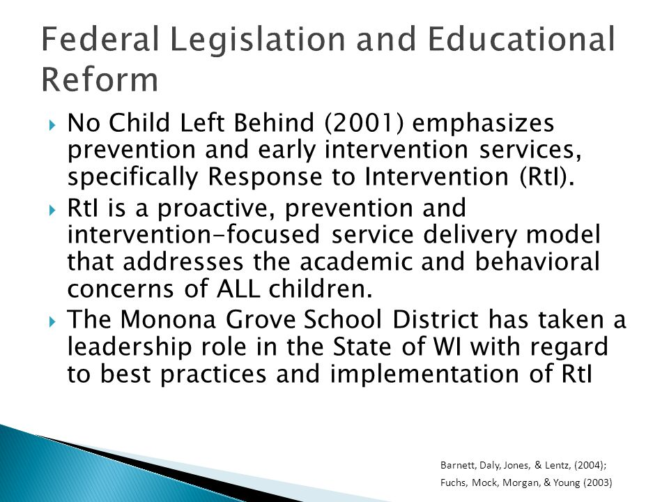 RtI in Preschool: Why is it the right time.