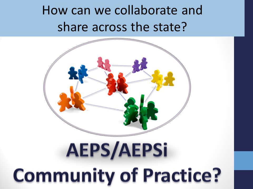 How can we collaborate and share across the state?