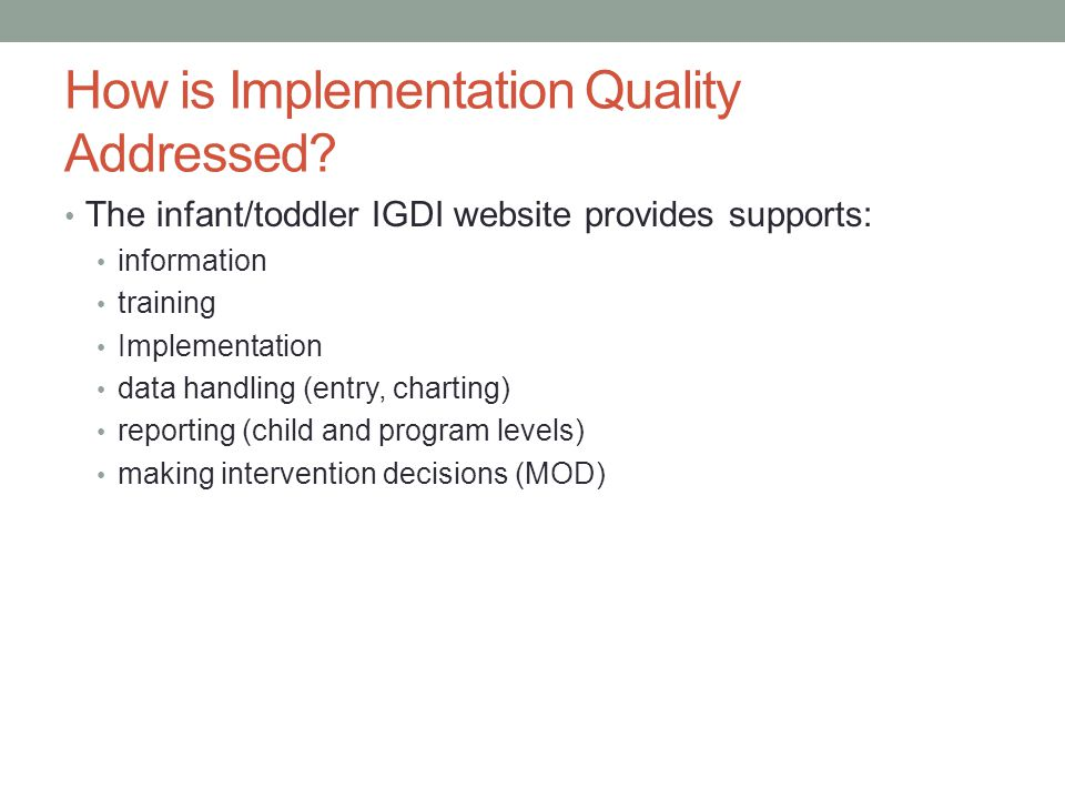 How is Implementation Quality Addressed.