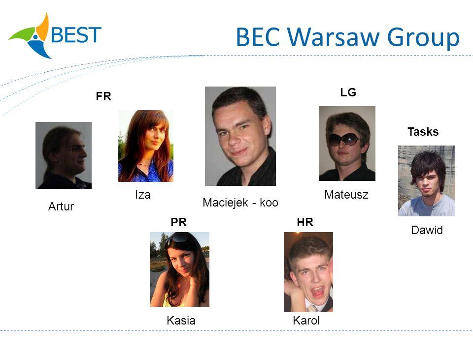 BEC Warsaw Group Maciejek - koo Artur Iza Kasia Mateusz Dawid Karol LG FR PRHR Tasks
