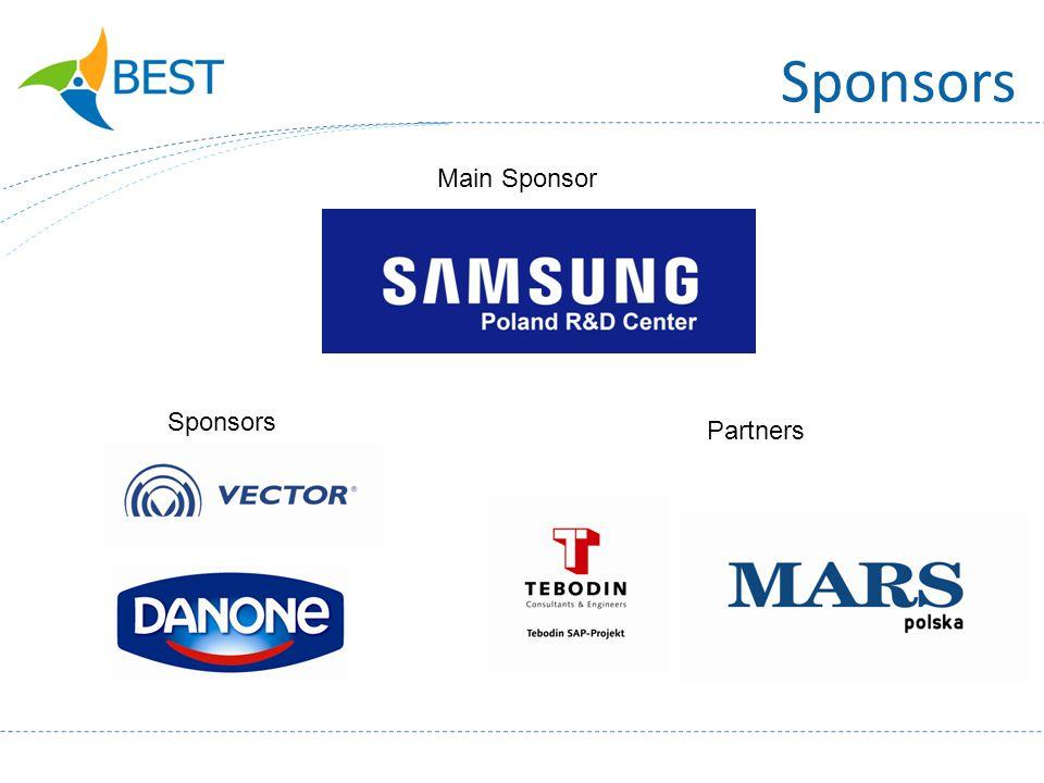 Sponsors Main Sponsor Sponsors Partners