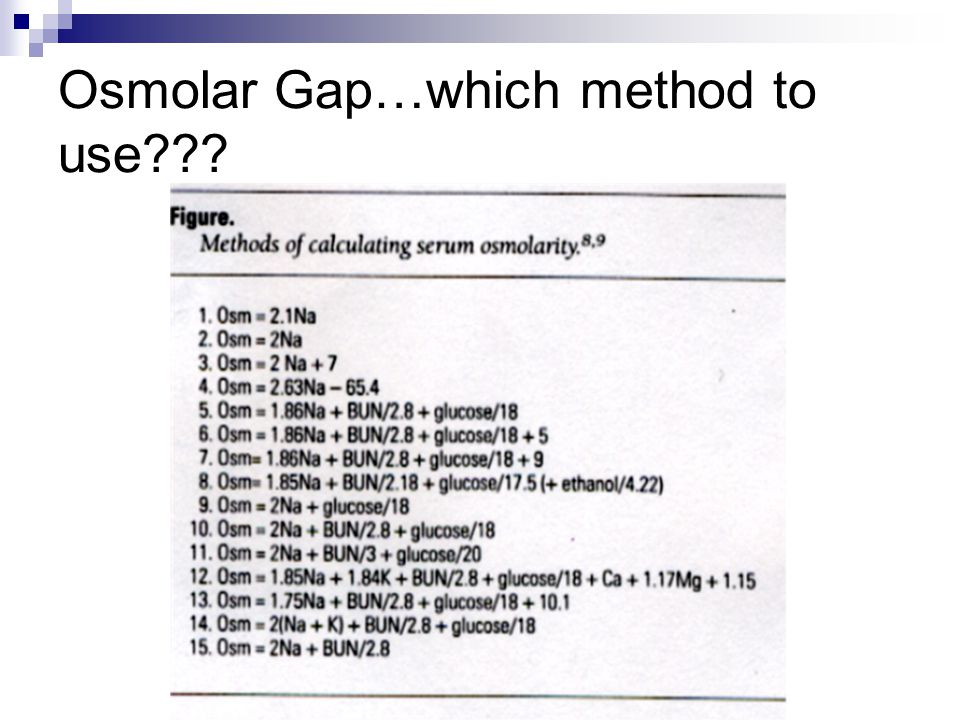 Osmolar Gap…which method to use