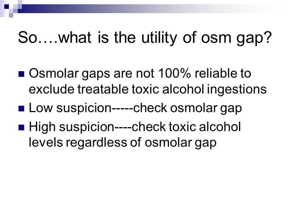 So….what is the utility of osm gap.