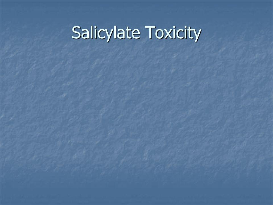 Salicylate Toxicity