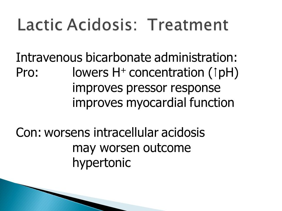Bottom line: If there is adequate circulation and if minute ventilation is appropriate, some bicarbonate administration is warranted.