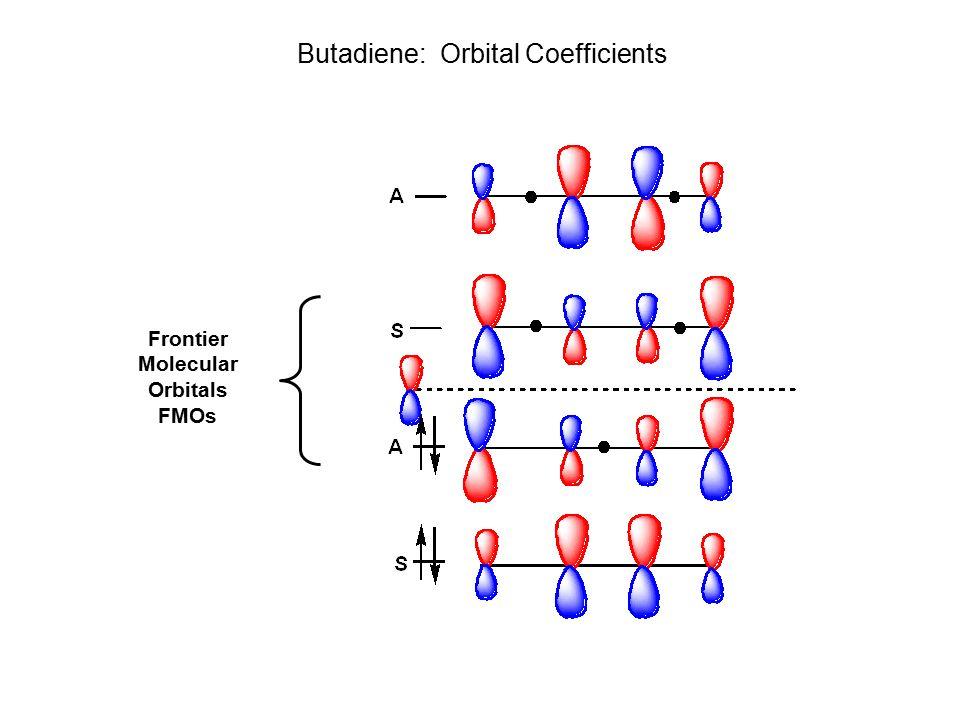 Butadiene Orbital Coeffients Frontier Molecular Orbitals FMOs Butadiene: Orbital Coefficients