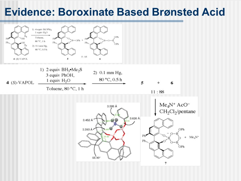 Evidence: Boroxinate Based Brønsted Acid