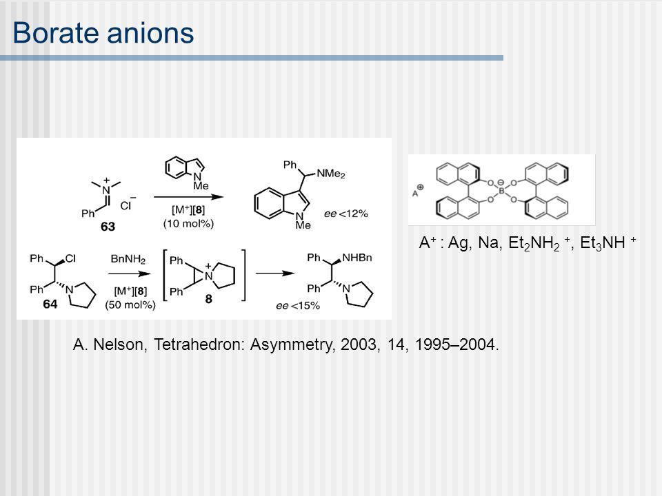 Borate anions A. Nelson, Tetrahedron: Asymmetry, 2003, 14, 1995–2004.
