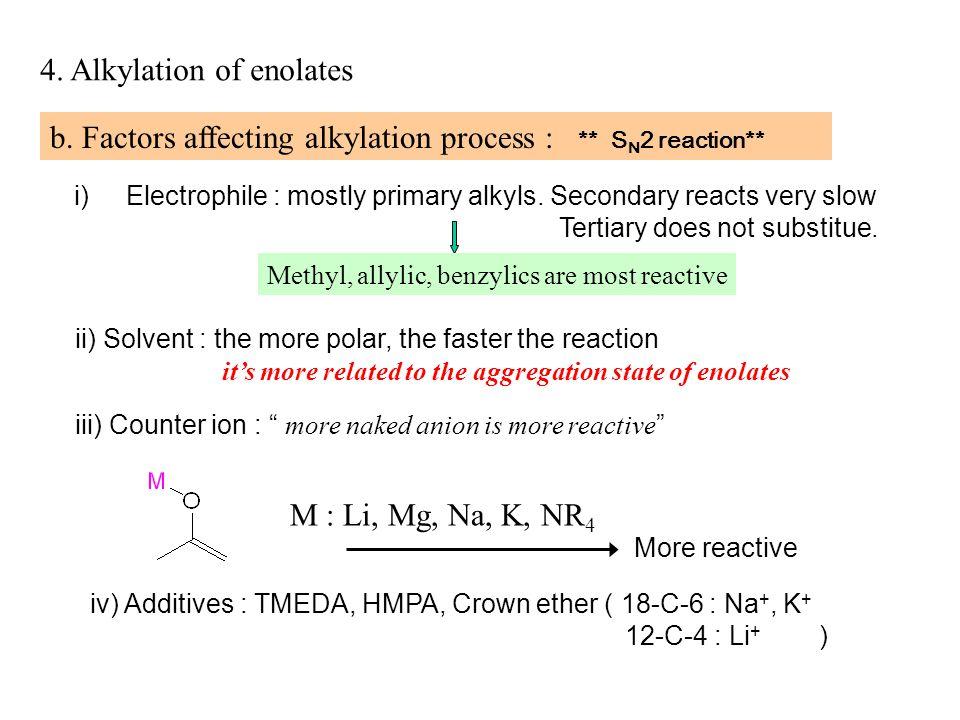 4. Alkylation of enolates b.