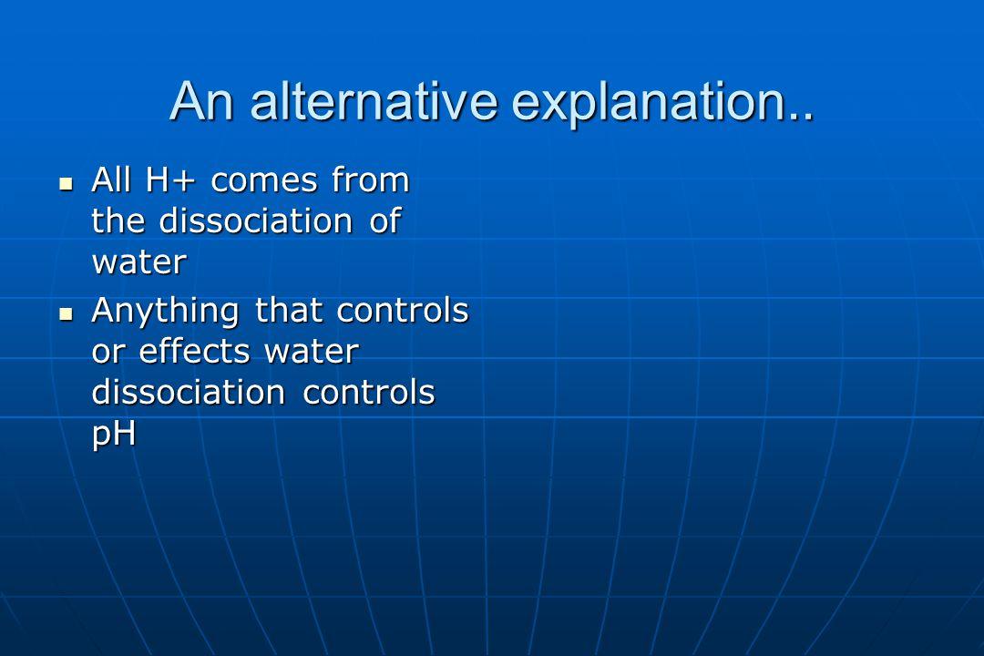 An alternative explanation..