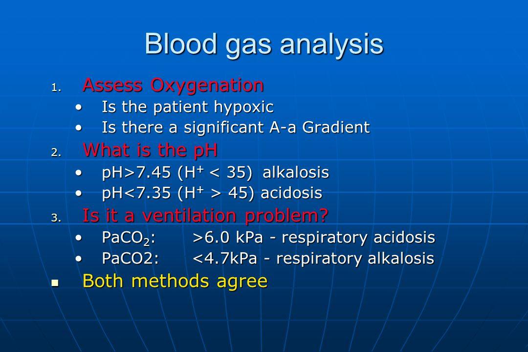 Blood gas analysis 1.