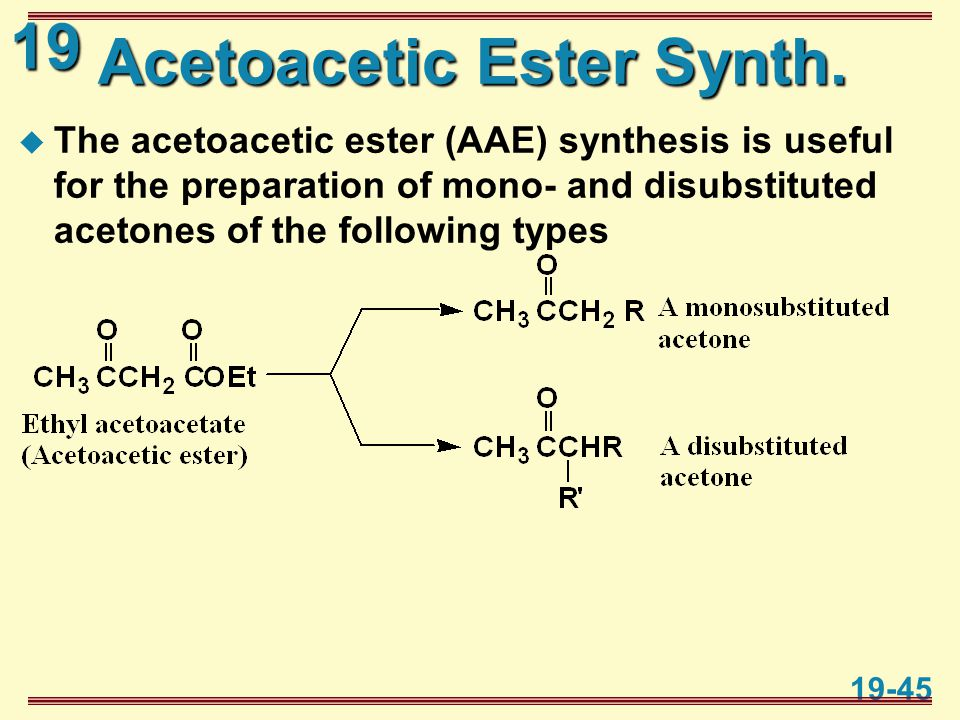 19 19-45 Acetoacetic Ester Synth.