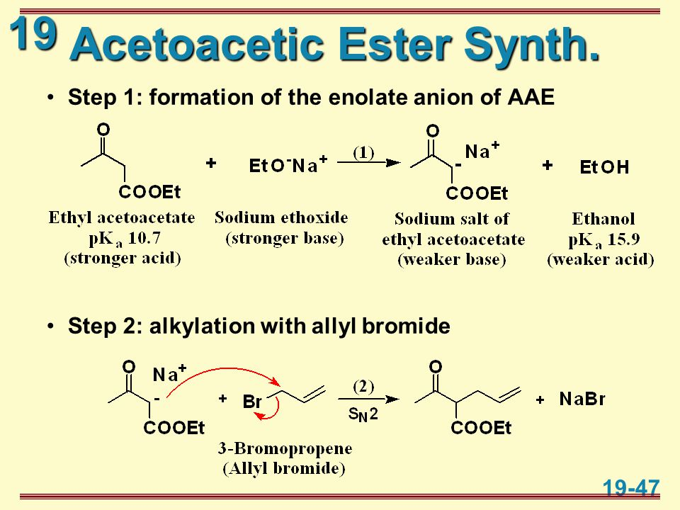 19 19-47 Acetoacetic Ester Synth.