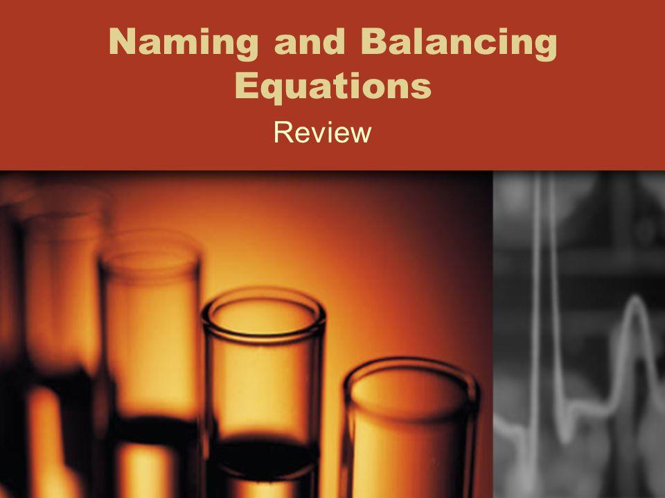 Naming and Balancing Equations Review