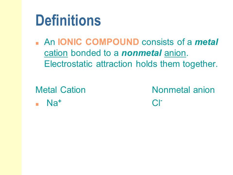 Examples: Type II Binary Ionic Compounds Write the names: Fe 2 O 3 SnS NiBr 2 CuS Pb 3 P 2 CuBr FeCl 3 iron (III) oxide Tin (II) Sulfide Nickel (II) Bromide Copper (II) Sulfide Lead (II) Phosphide Copper(I) Bromide iron (III) Chloride