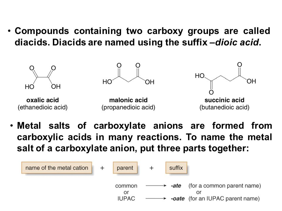 7 Figure 19.2 Naming the metal salts of carboxylate anions