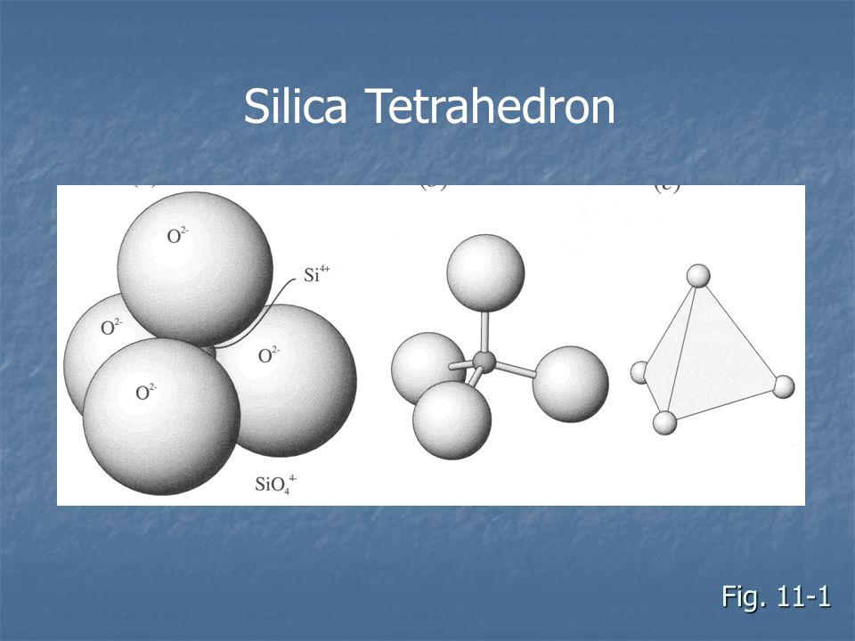 Fig. 11-1 Silica Tetrahedron