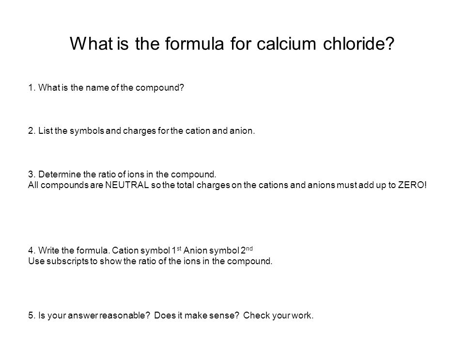 What is the formula for calcium oxide.1. What is the name of the compound.