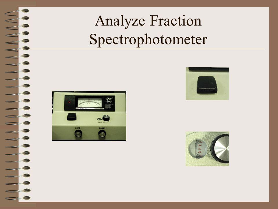Analyze Fraction Spectrophotometer