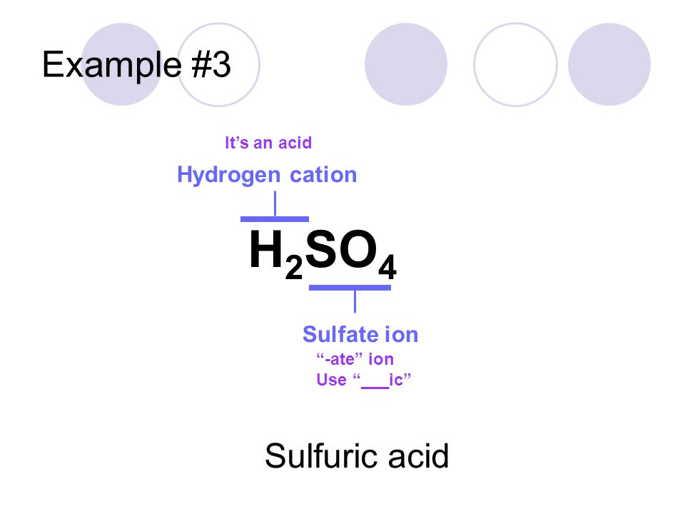 Let's Practice Example: Write the name for the following compounds HCl HNO 3 H2SH2S H 3 PO 3