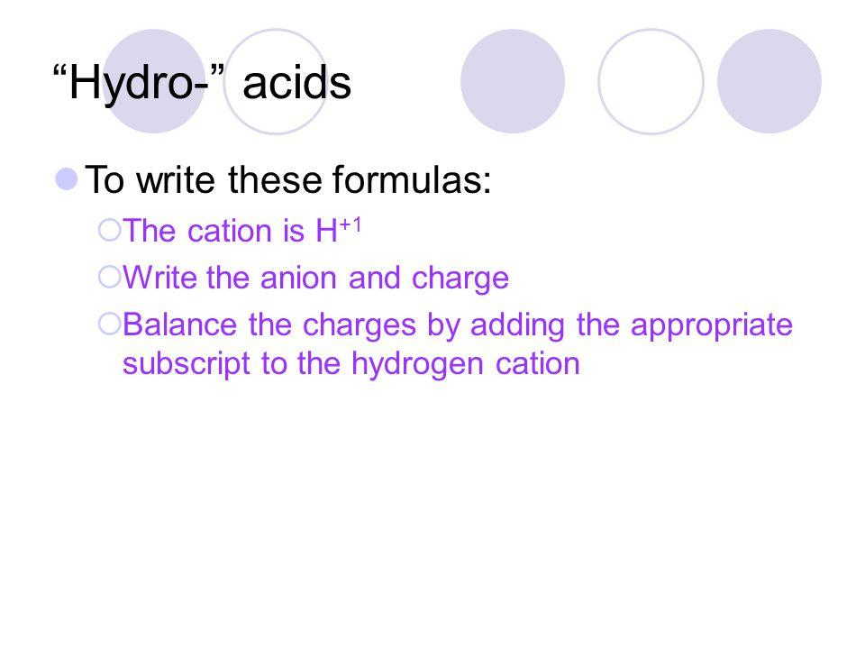 Example #4 Hydrofluoric acid