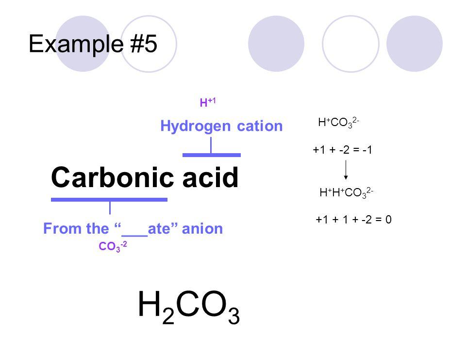 Example #6 Nitrous acid