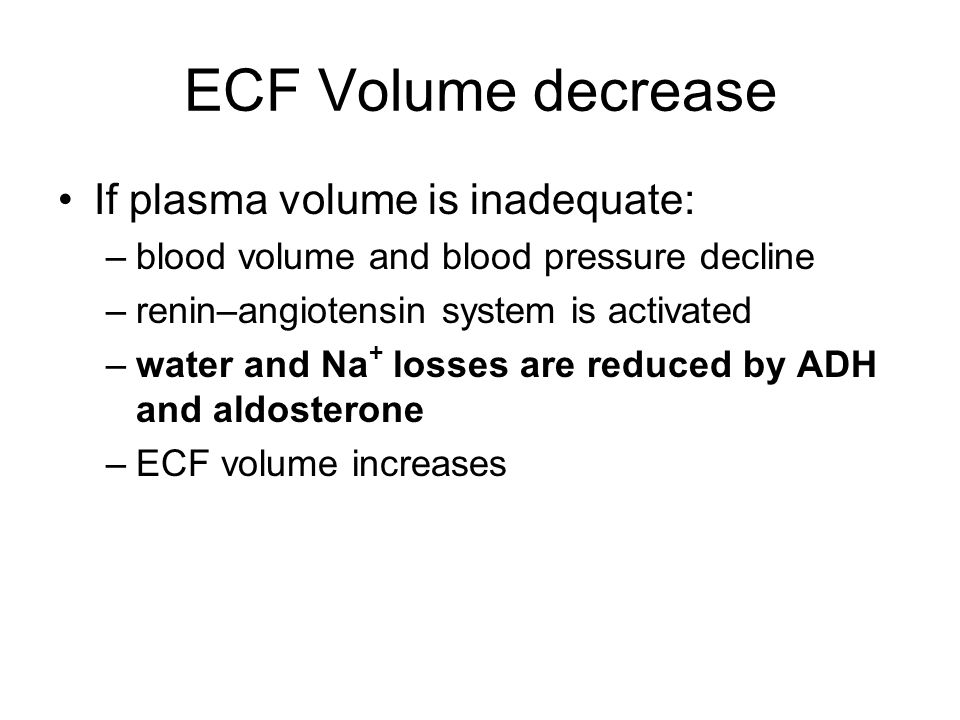 Figure 27–5 (2 of 2) Fluid Volume Regulation and Na + Concentrations – Low Volume