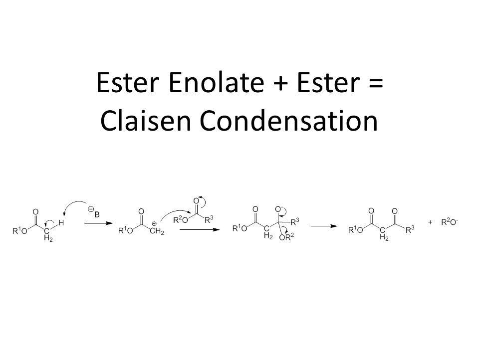 Ester Enolate + Ester = Claisen Condensation