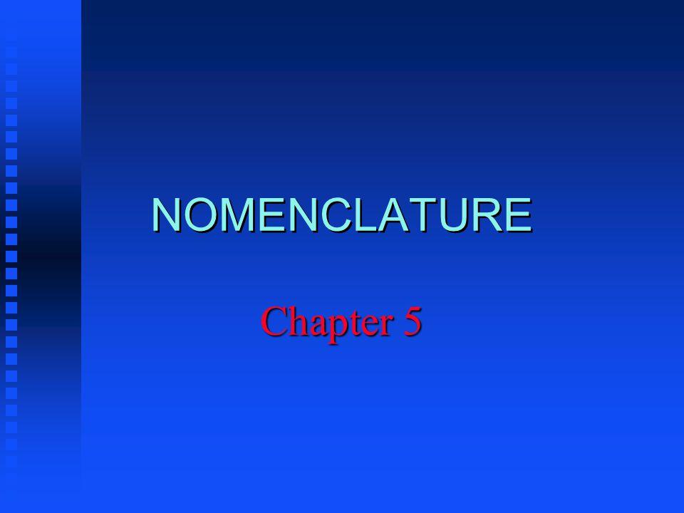 NOMENCLATURE Chapter 5