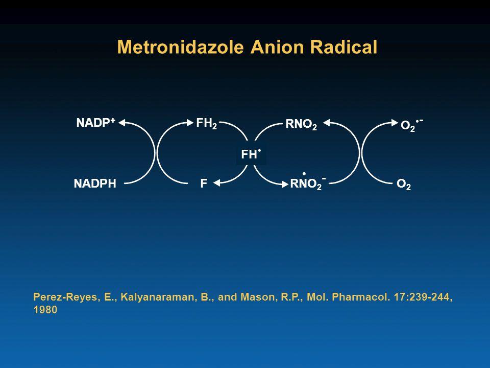 Metronidazole Anion Radical Perez-Reyes, E., Kalyanaraman, B., and Mason, R.P., Mol.